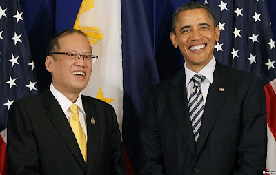 President Obama with President Aquino