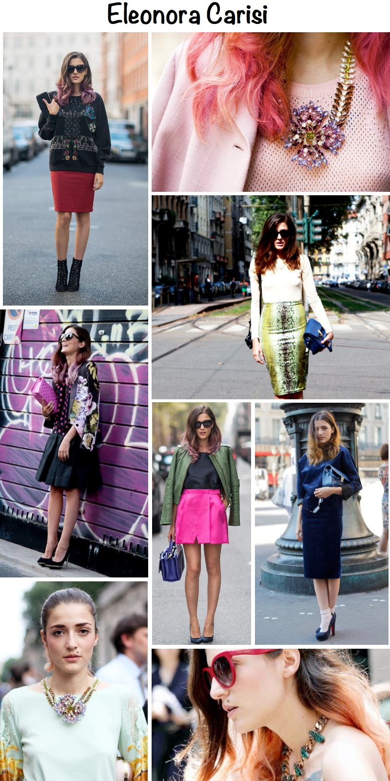"best outfits of  ""it girl"" italian blogger Eleonora Carisi"