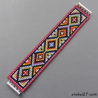 этнические украшения из бисера