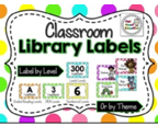 http://www.teacherspayteachers.com/Product/Classroom-Library-Labels-EDITABLE-Bright-Polka-Dot-1300591