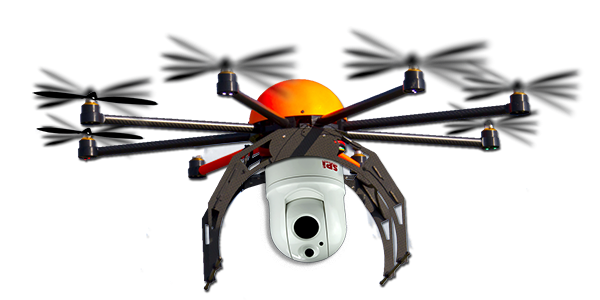 M1-D Thermal Surveillance Camera mounted on a UAV drone