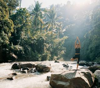 yoga in Bali, yoga class