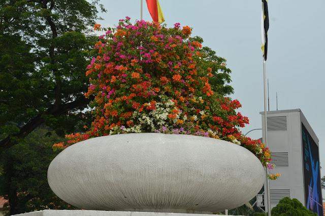 Merdeka Square Kuala Lumpur flowers