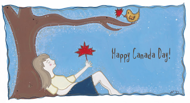 New Work: Happy Canada Day illustration