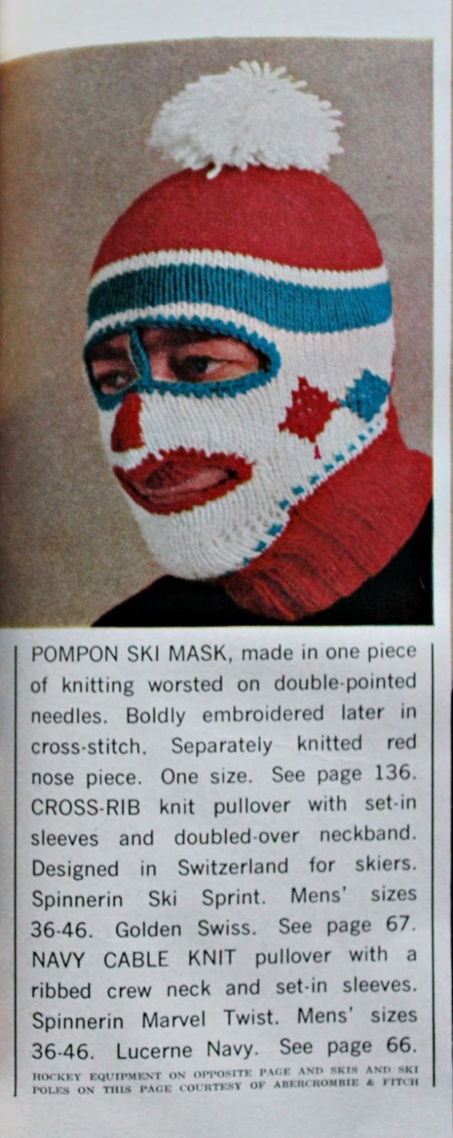 What the F--- Vintage Crafts: Clown Ski Masks - Va-Voom Vintage ...