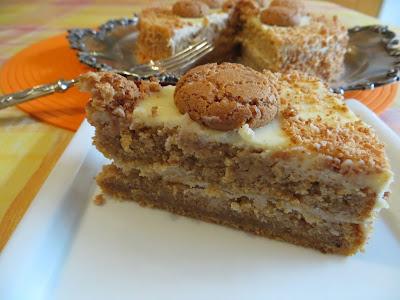 torta di zucca, amaretti e cannella