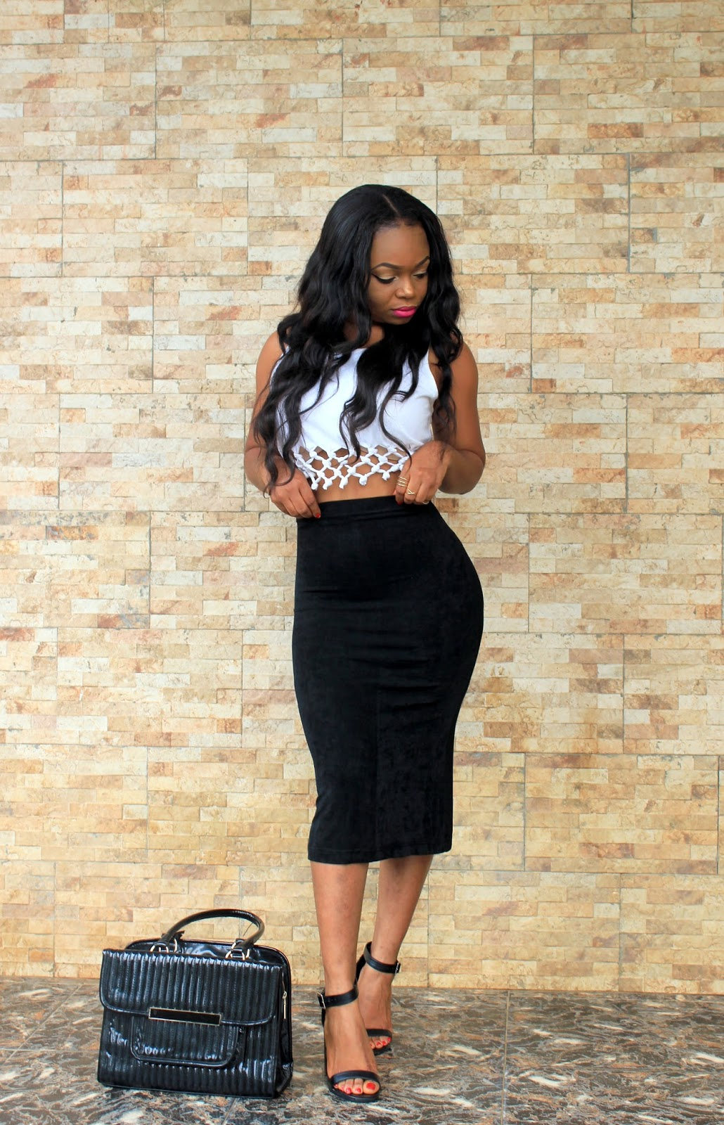 Styled - DIY CROP TOP with black pencil skirt