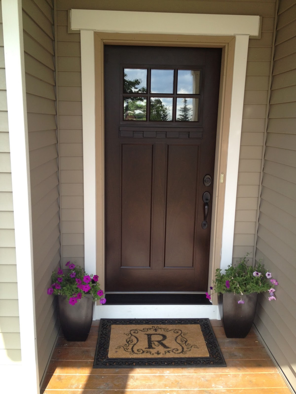 Our styled suburban life new front door for Exterior front entry doors