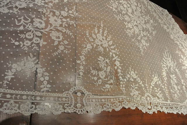 antique lace wedding shawl