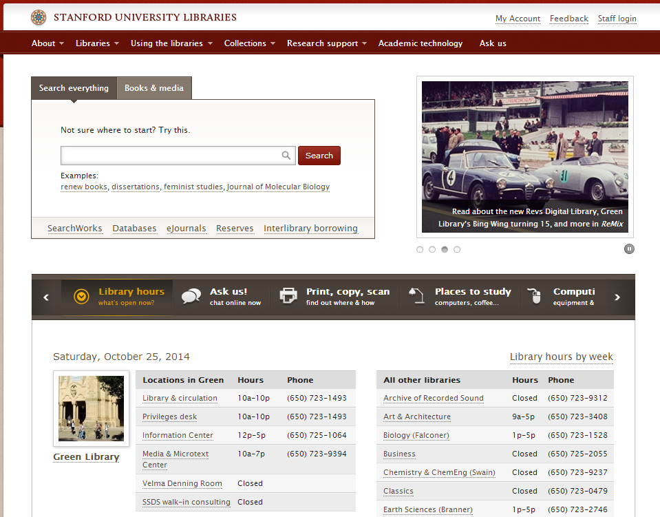 How should academic library websites change in an open access ...