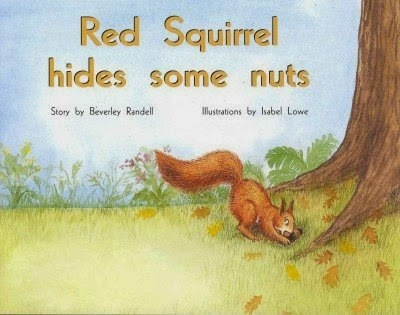 bookcover of RED SQUIRREL HIDES SOME NUTS by Beverley Randell Harper