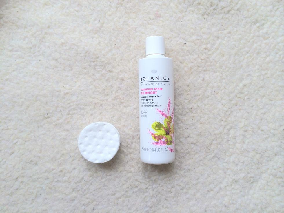 botanics all bright cleansing toner review