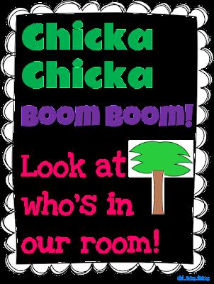 Beginning of the school year craftivity to accompany Chicka Chicka Boom Boom