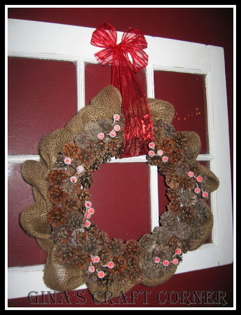 Pinecone Wreath-Gina's Craft Corner