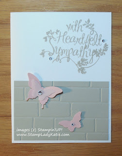 Sympathy card made with Stampin'UP!'s Heartfelt Sympathy stamp set