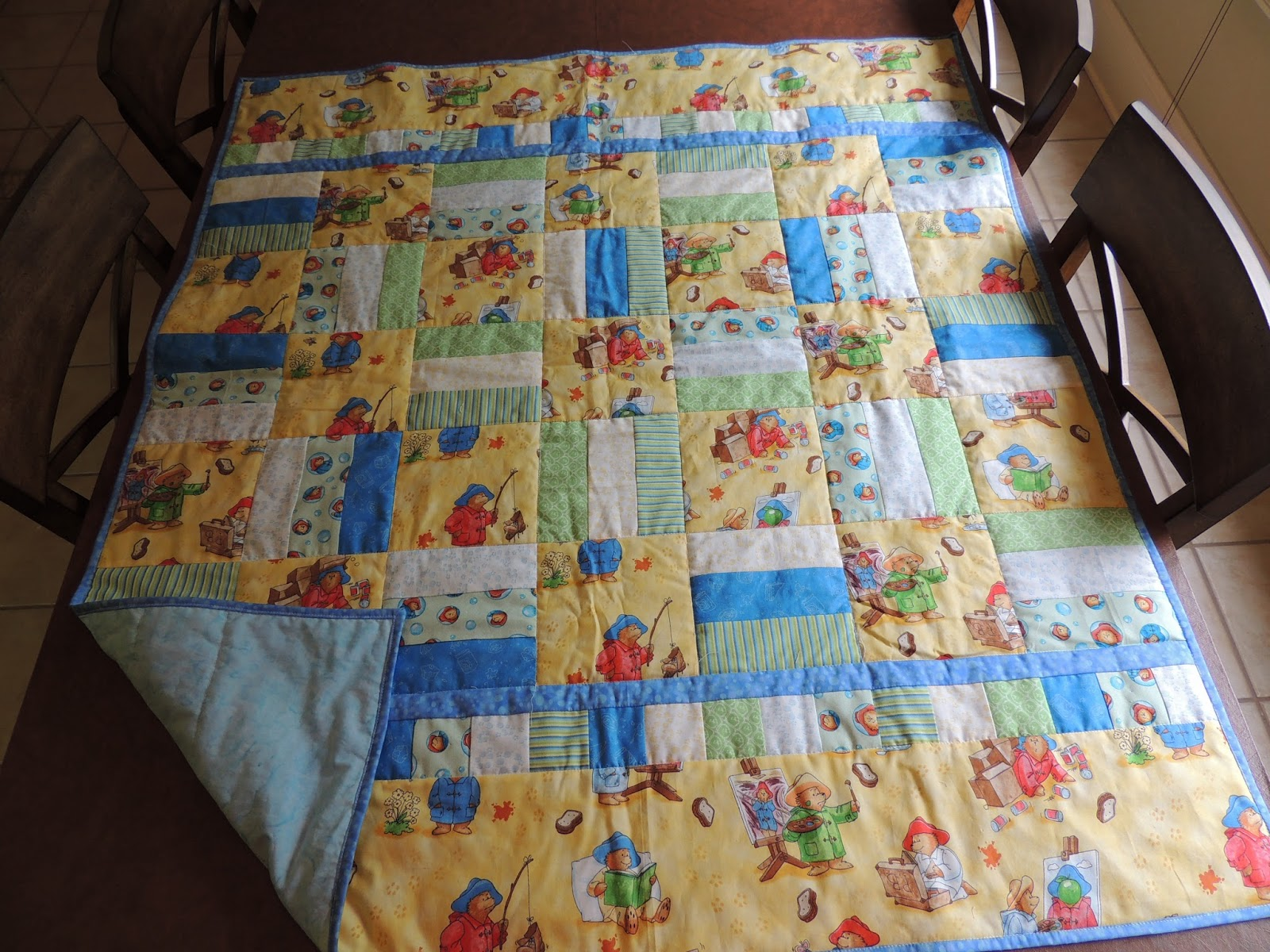 sing. read. sew. travel. teach.: Remembering last summer's quilts : paddington bear quilt - Adamdwight.com