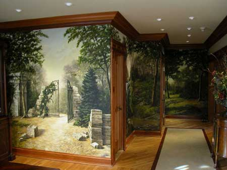 Home design interior decorative wall painting for Interior wall painting designs