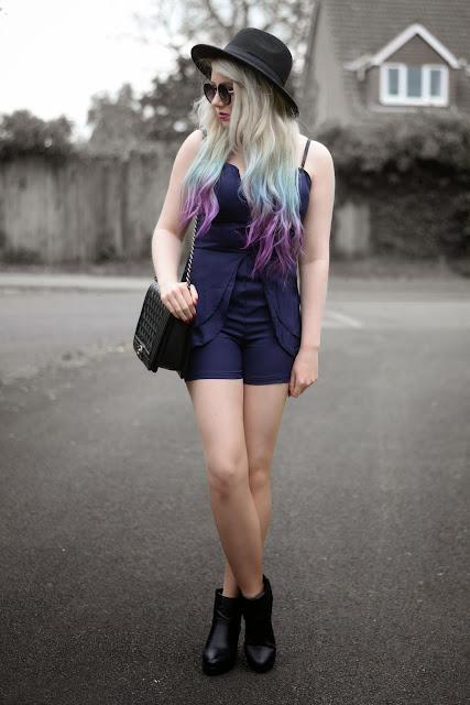 Sammi Jackson - Blue Playsuit
