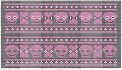 FREE Skulls & Hearts Knitting Chart