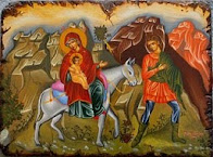 Η πορεία στη Βηθλεέμ, η φυγή στην Αίγυπτο και οι αγιογράφοι