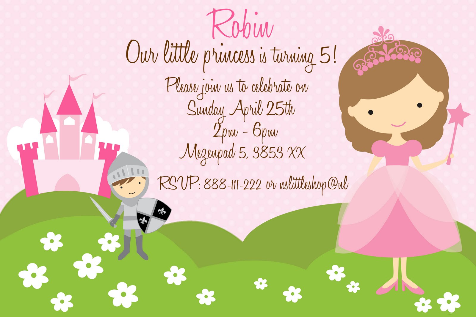 nslittleshop party decorations and more Princesses and Knights – Princess and Knight Party Invitations