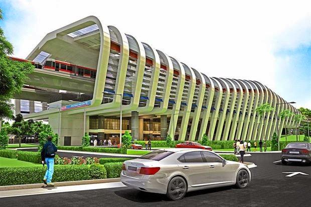 Gambar Stesen LRT Putra Heights