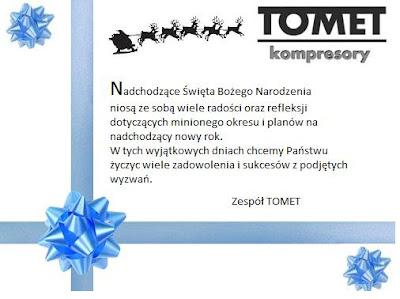 kartka świąteczna Tomet