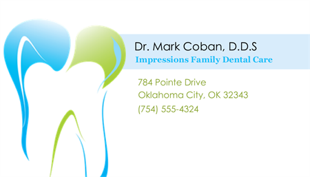 40+ Simple Yet Attractive Business Card Sample for Dentist ...