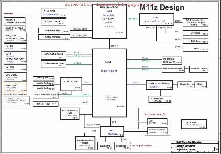 Dell Inspiron 13z (N301Z) schematic