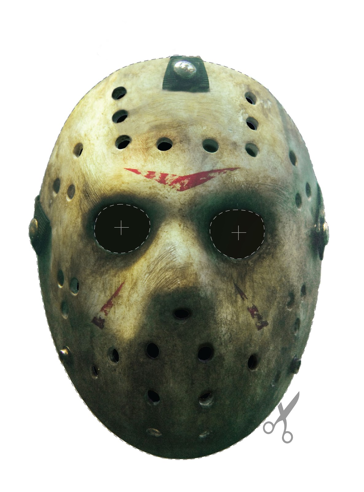 Uncategorized Cut Out Mask friday the 13th jason cut out mask blood curdling blog of monster masks