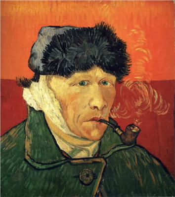 "Picture of ""Self Portrait with Bandaged Ear"" by Vincent van Gogh,  1889"