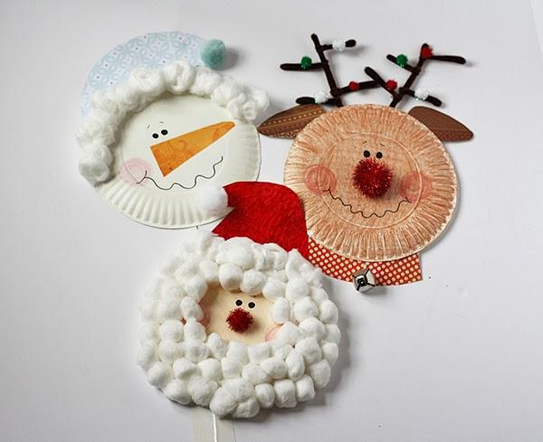 Paper Plate Christmas Characters Santa, Snowman & Rudolph