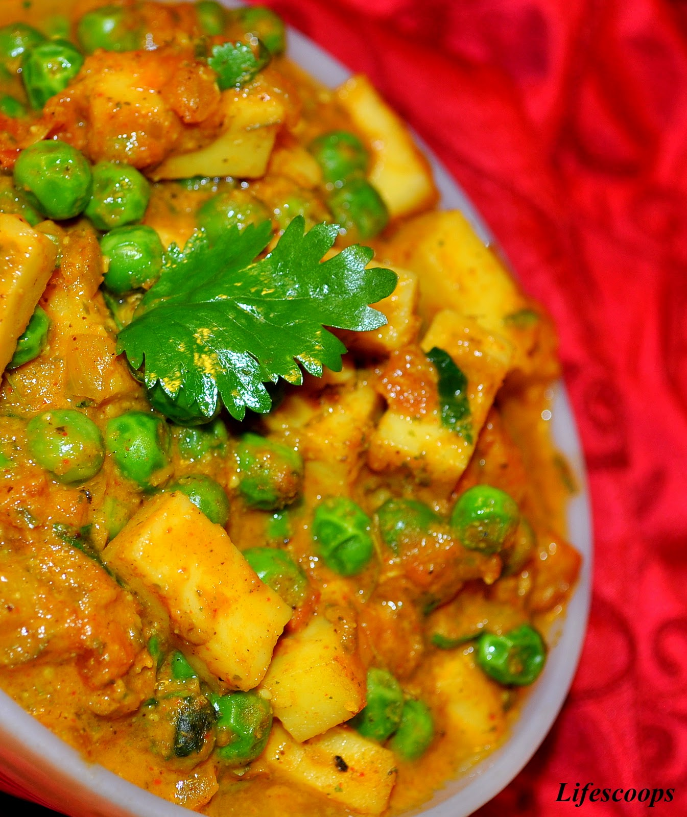 Life scoops mutter paneer with almond paste green peas with indian mutter paneer with almond paste green peas with indian cottage cheese forumfinder Choice Image