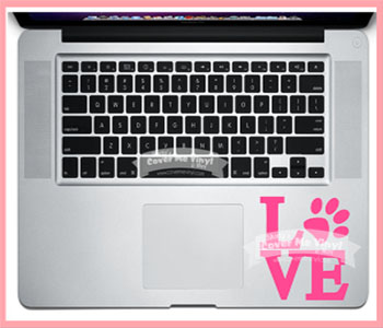 Love Paw Laptop Decal