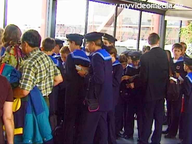 Vienna Boys' Choir waiting for their departure in Lisbon