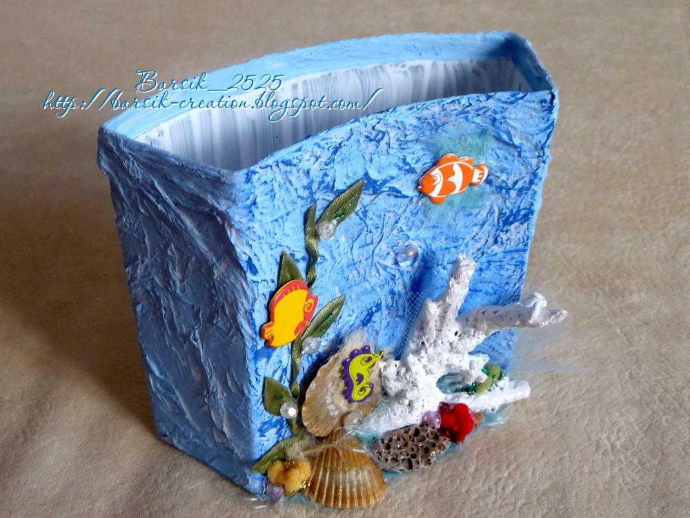 карандашница, коралловый риф своими руками