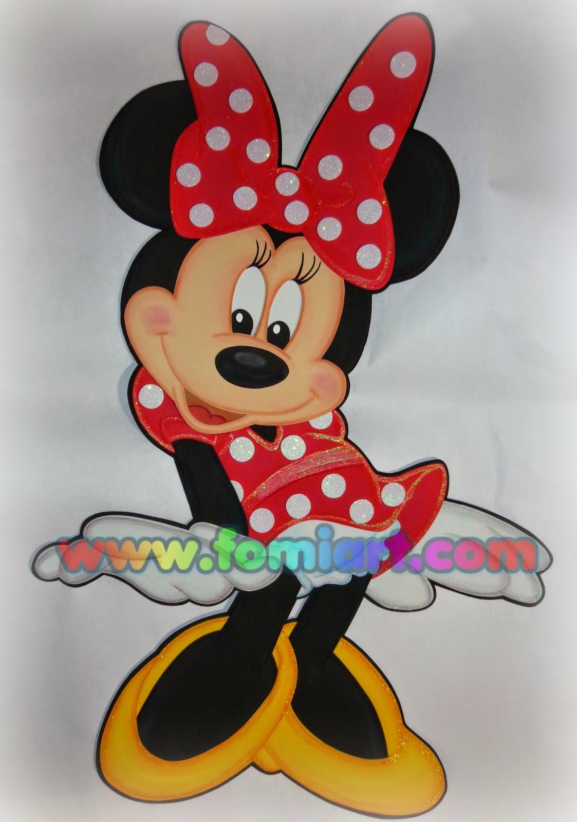 #minnie mouse en foami, fomi, goma eva