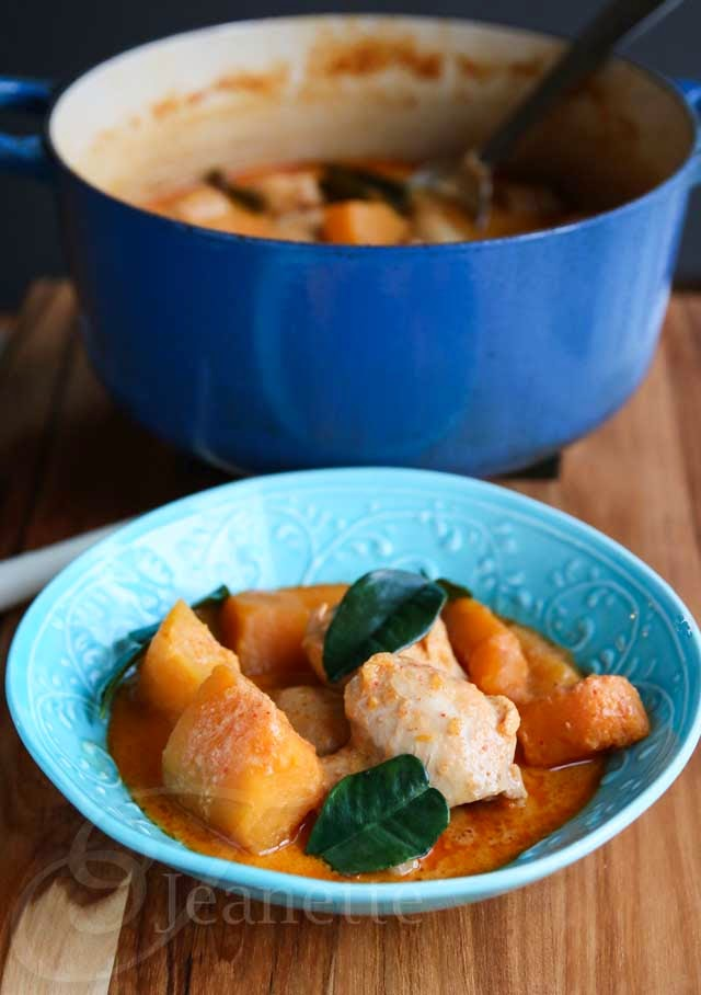 Thai Red Curry with Chicken and Winter Squash using butternut squash ...