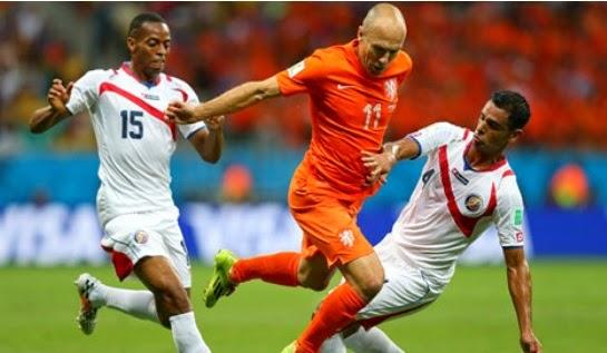 Keputusan Perlawanan Netherlands vs Costa Rica, Piala Dunia 2014