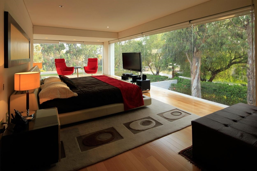 Bedroom in Godoy House by Hernandez Silva Arquitectos in Mexico