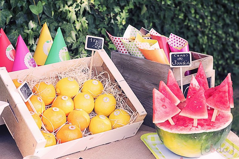 Kara 39 s party ideas fruit themed 1st birthday party kara - Fruit designs for parties ...