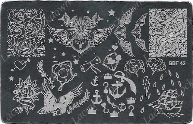 Lacquer Lockdown - Loja BBF, BBF43, BBF44, BBF46, BBF47, BBF48, BBF49, BBFF50, Cinderella stamping plate, nail art stamping plates, nail art stamping blog, indie stamping plates, nail art, cute nail art ideas, dragon stamping plate, paisley stamping plate, BBF stamping plates, stamping plates, nail art stamping, stamping