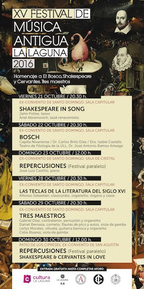 XV Festival de Música Antigua La Laguna 2016