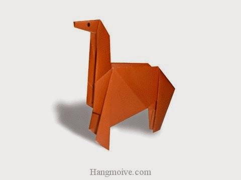 Cách gấp, xếp con Ngựa bằng giấy origami - Video hướng dẫn xếp hình - How to make a Horse