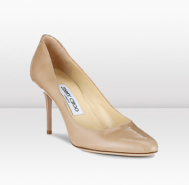 Jimmy Choo Gilbert, nude pump