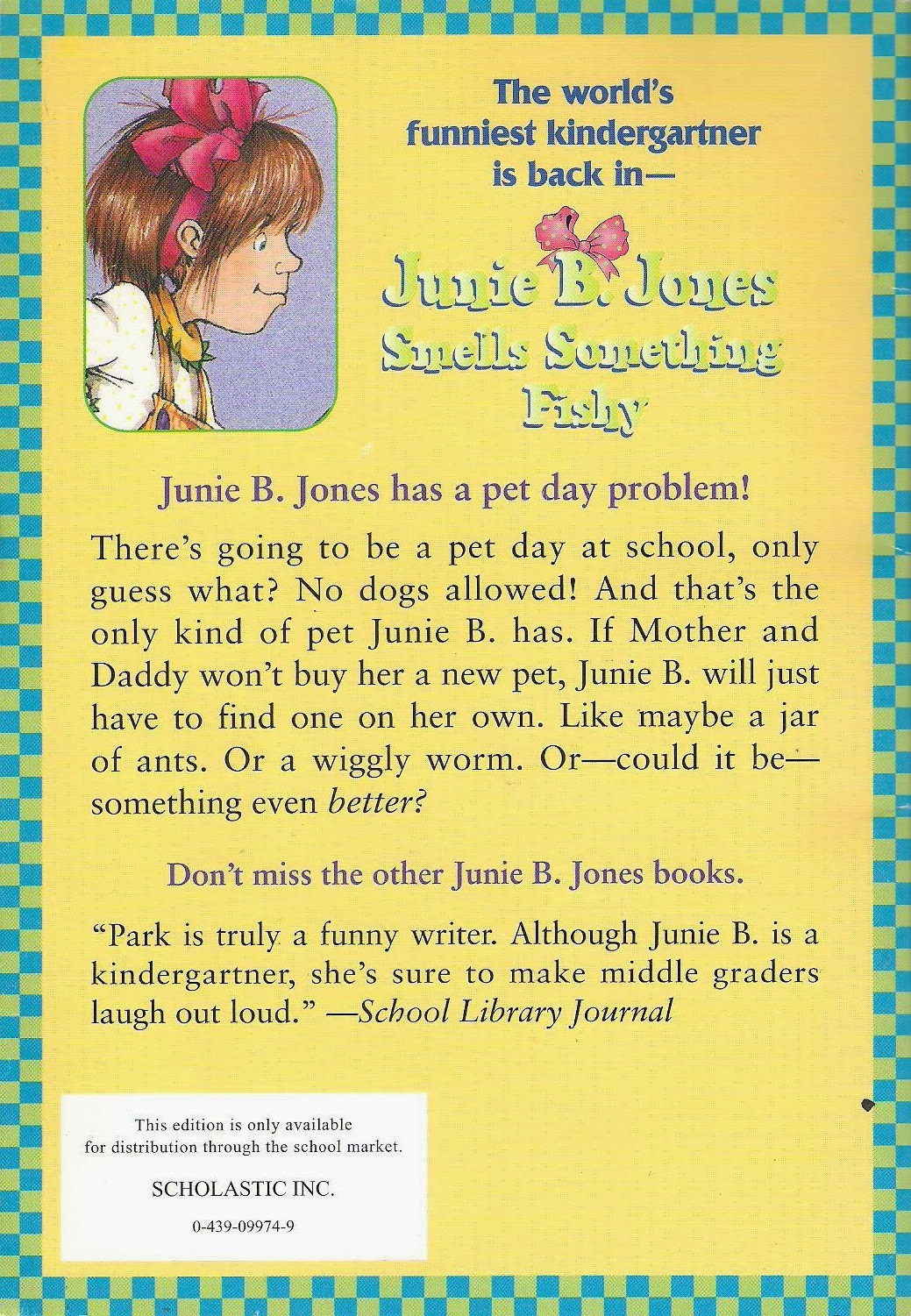 junie b jones smells something fishy book report A quality educational site offering 5000+ free printable theme units, word puzzles, writing forms, book report forms,math, ideas, lessons and much more great for new teachers, student teachers , homeschooling and teachers who like creative ways to teach join the popular membership section.