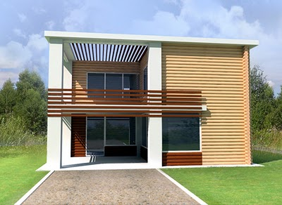 Fachadas contempor neas fachada contemporanea campestre for Fachada de casas modernas con balcon