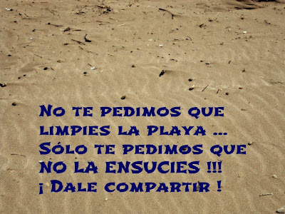 No ensucies la playa