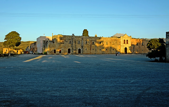 Греция Крит Монастырь Аркади Crete Greece Arkadi Monastery