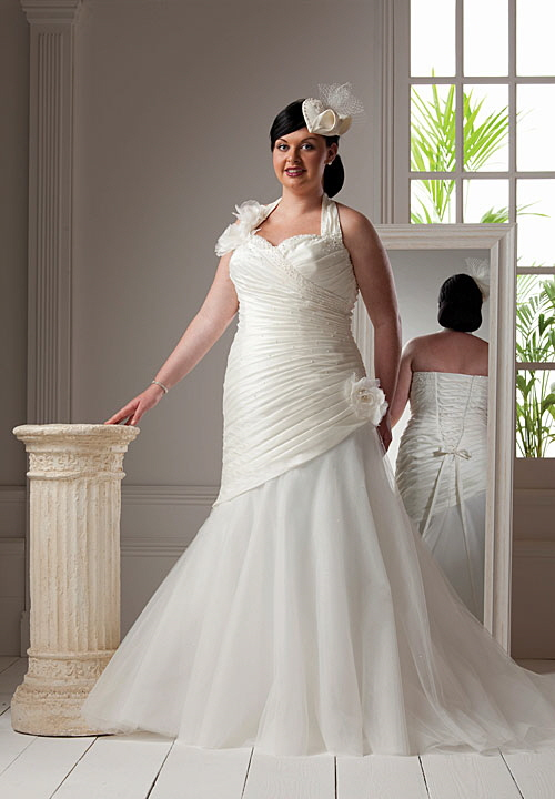 Modelo de vestido de novia para gorditas